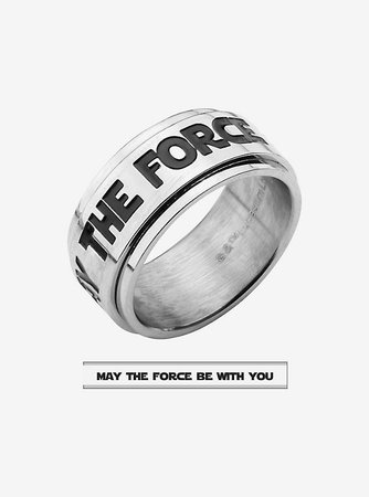 """Star Wars """"MAY THE FORCE BE WITH YOU"""" Spinner Ring"""
