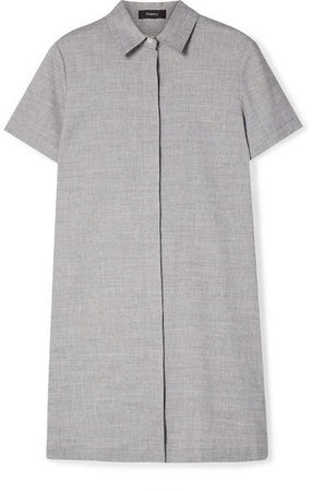 Organic Linen-blend Mini Dress - Light blue