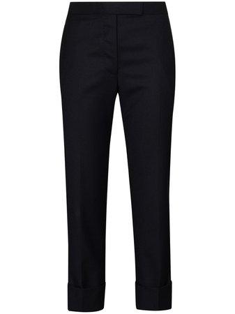 Thom Browne Cropped Slim Leg Trousers - Farfetch