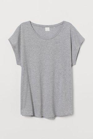 Cotton-blend T-shirt - Gray