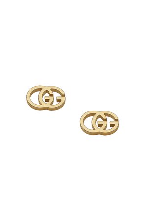 Gucci Running G Stud Earrings in 18KT Yellow Gold   FWRD