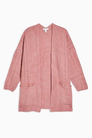 Rose Pink Super Soft Longline Cardigan | Topshop