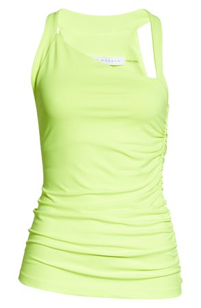 Susana Monaco Angled Neck Side Ruched Tank Top | Nordstrom