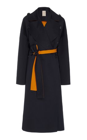 Aroa Pleated Back Wool-Cotton Coat by ROKSANDA | Moda Operandi