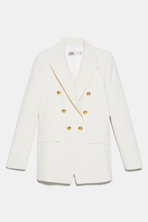 BLAZER WITH BUTTONS | ZARA United States white
