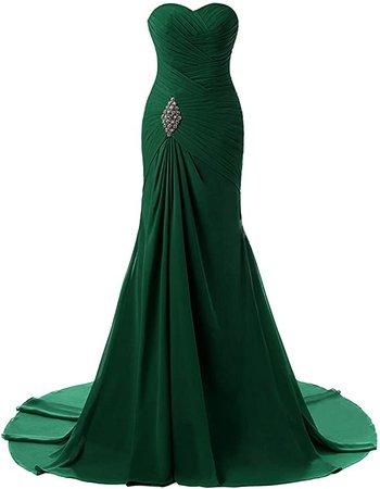 Amazon.com: Lily Weddding Womens Sweetheart Mermaid Prom Bridesmaid Dresses 2018 Long Formal Evening Ball Gowns FED00302 Burgundy Custom Size: Clothing