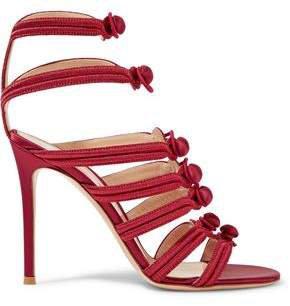 Regalia Embroidered Satin Sandals