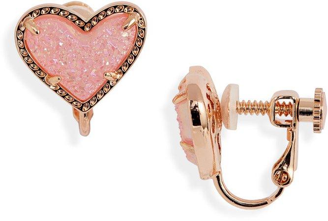Ari Heart Drusy Earrings