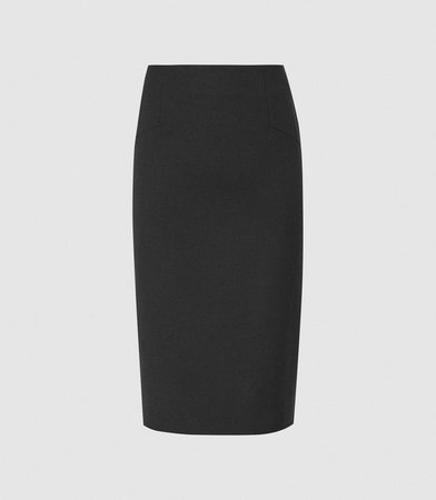 Hayes Black Tailored Pencil Skirt – REISS