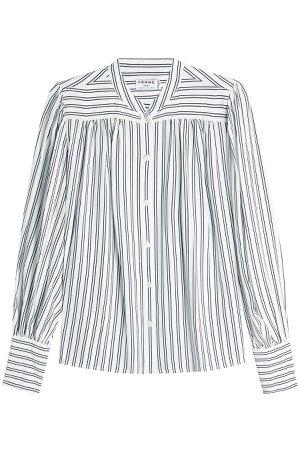 Striped Silk Blouse Gr. L