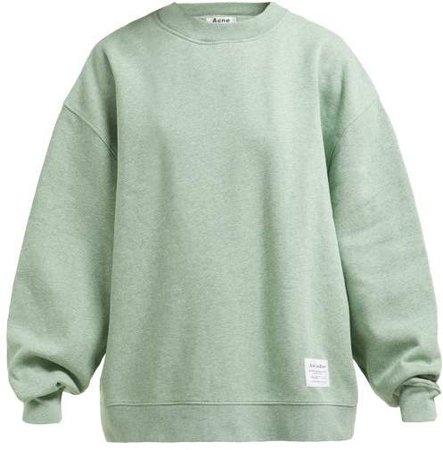 Fyona Loose Fit Cotton Jersey Sweatshirt - Womens - Green