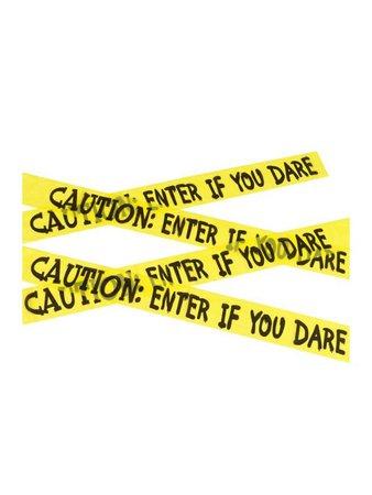 Caution Entrance Halloween Decoration | Caution Tape Haunted House Decoration