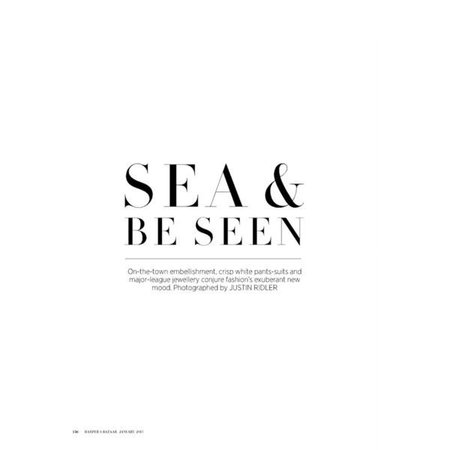 sea & be seen text