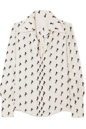 Chloé | Printed silk-crepe blouse | NET-A-PORTER.COM