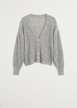 Ribbed knit cardigan - Women | Mango United Kingdom