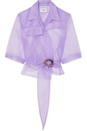 Nanushka   Dalas organza wrap shirt   NET-A-PORTER.COM