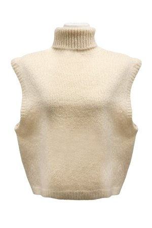 Angela Turtle Neck Knit Sleeveless Top | Women's Sweaters & Knits | storets