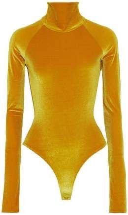 ALIX Cutout velvet turtleneck bodysuit