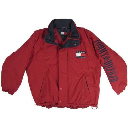red tommy hilfiger windbreaker