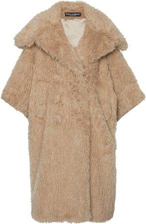 Dolce & Gabbana Oversized Faux Fur Coat