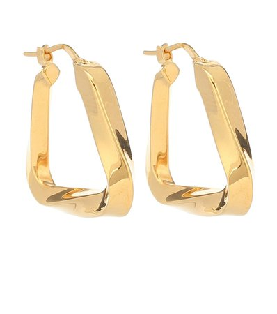 Gold-Plated Twisted Hoop Earrings - Bottega Veneta | Mytheresa