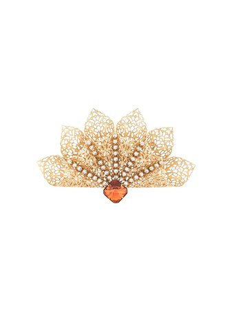 Kenneth Jay Lane Crystal Embellished Broach 4798584 Gold | Farfetch