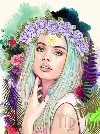 virgo digital art girl - Google Search