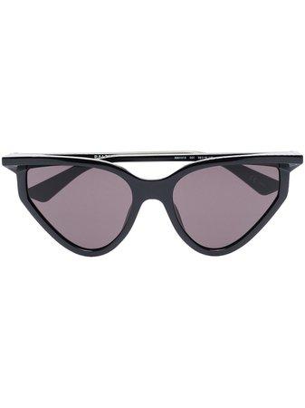 Black Balenciaga Eyewear Rim cat-eye sunglasses - Farfetch