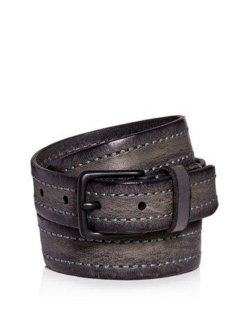 ALLSAINTS Men's Distressed Leather Belt | Bloomingdale's