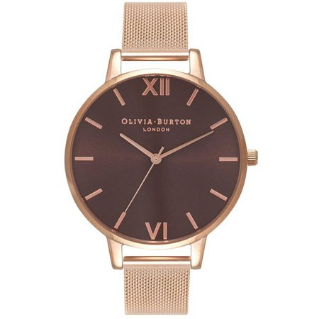 Chocolate Brown & Rose Gold Watch