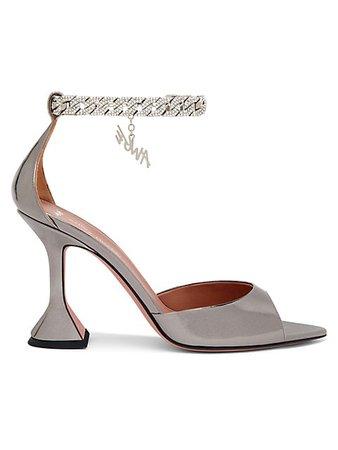 Amina Muaddi Amina Muaddi x AWGE Flacko Crystal-Embellished Chain Leather Sandals | SaksFifthAvenue