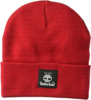 Timberland Men's Short Watch Cap with Woven Label, Light Heather Grey 2, One Size at Amazon Men's Clothing store