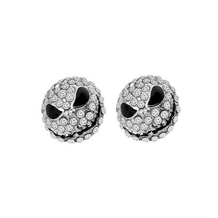 Amazon.com: MYOSPARK Happy Jack Skellington Crystal Stud Post Earrings Nightmare Before Christmas Earrings Halloween Jewelry Gift (Jack Skellington Earrings): Jewelry