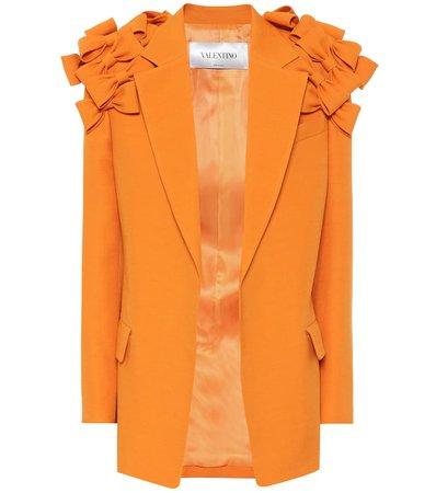 Valentino - Wool and silk crêpe blazer   Mytheresa