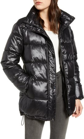Stand Collar Water Resistant Puffer Coat