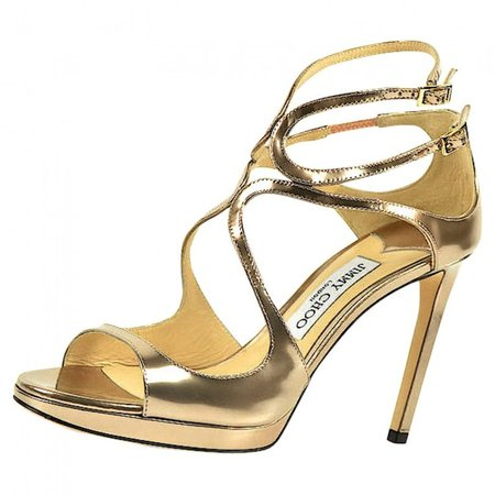 Lance Gold Leather Sandals