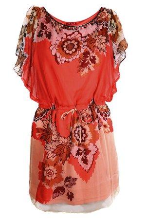 RENÉ DERHY LESLEY Coral Printed Dress – PRET-A-BEAUTE.COM