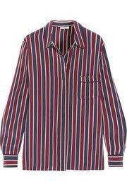 Striped silk crepe de chine shirt