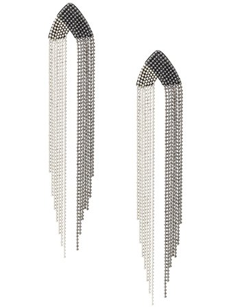 Metallic Fabiana Filippi Fringe Chain Earrings | Farfetch.com