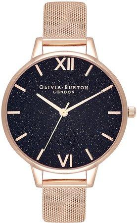 Classics Glitter Mesh Strap Watch, 34mm