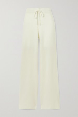 Temple Of Doom Ribbed Cashmere Track Pants - Cream