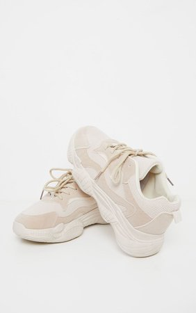 Sand Bubble Sole Lace Up Trainer   Shoes   PrettyLittleThing