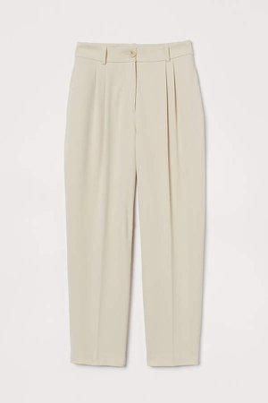 Ankle-length Suit Pants - Beige