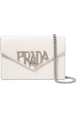 PRADA Logo Liberty leather shoulder bag$1,790