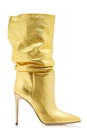 Slouchy Metallic Leather Slouchy Boots By Paris Texas | Moda Operandi
