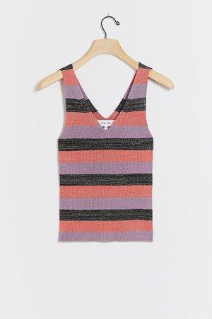 Stephine Shimmer Knit Tank | Anthropologie