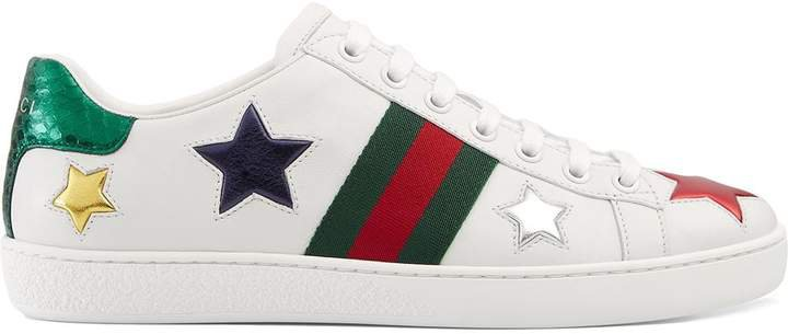 white Ace low-top leather sneakers