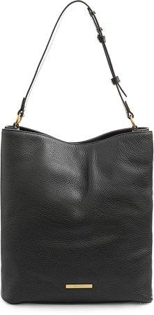 Large Amelia Leather Bucket Bag