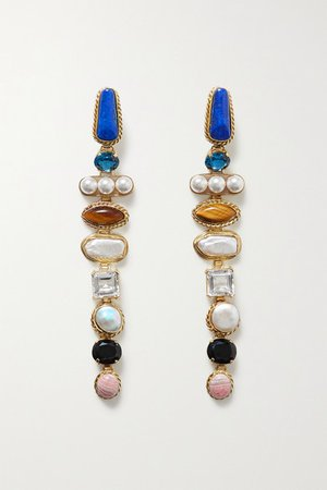 Sophie Buhai | Gold-tone multi-stone earrings | NET-A-PORTER.COM