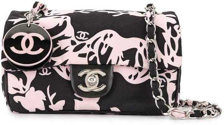 Pre-Owned flower print chain shoulder bag